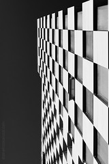 Untitled (domenicocarusophoto) Tags: city travel windows sky urban bw white inspiration black building travelling lines wall architecture facade contrast skyscraper buildings pattern contemporary patterns perspective shapes korea surface hive incheon geometries