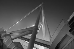 Metal constructions. (boris shevchuk) Tags: new sky blackandwhite black building industry monochrome metal architecture outdoors design construction iron industrial angle metallic contemporary background steel engineering structure beam frame strong material strength framework shape spar built girder steelwork