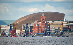 Extreme Sailing weekend, Cardiff Bay (technodean2000) Tags: building boats pier nikon sailing head centre extreme cardiff millennium sail bail d610