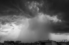 Pre Monsoon Shower (chirasree) Tags: blackandwhite storm monochrome clouds blackwhite monsoon thunderstorm cloudscape cloudporn stormcloud stormchasers amazingskyscapes tropicalthunderstorm