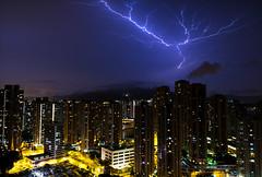 A busy night (ii) (edward.cheung) Tags: light night hongkong cloudy sony bluesky thunderstorm lightening maonshan a6000