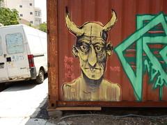 Horns (aestheticsofcrisis) Tags: street urban streetart art graffiti athens urbanart greece rows crisis athina nda intervention guerillaart attiki jnor