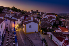 Obids (JorisDierickxx) Tags: city blue sunset building castle portugal architecture town europe cityscape hour midieval obids