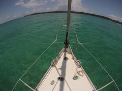 Anchored Andros (Venture Minimalists) Tags: ocean sailboat sailing anchorage bahamas andros anchored