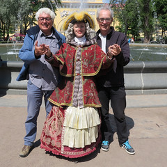 Warm welcome in St Petersburg ! (dirk huijssoon) Tags: r1 longdistance bicycletour cyclingtour dirkhuijssoon bikethebaltic longdistancebicycletour hollandstpetersburgbikethebaltic hanseaticroute jandevrieze cyclingthroughthebaltic hollandtostpetersburgbicycletour