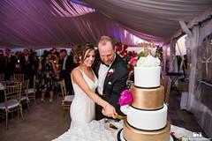Cake cutting (jennywenny) Tags: wedding white black cake marriott gold peony