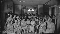 Mrs Scott's (seated in front, holding the bouquet of roses) Party, taken in 1931 (vieilles_annonces) Tags: 1931 washingtondc thirties 1930s 30s scurlockphotography blackwashingtonians mrsscottsparty