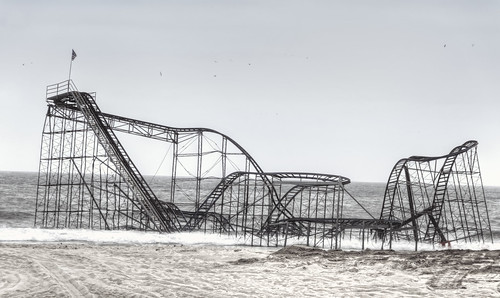 Roller coaster in the ocean