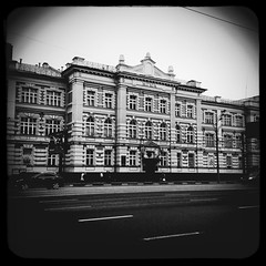 (Law Academy) (Andrey  B. Barhatov) Tags: city urban blackandwhite bw architecture noir msk worldmap citywalks iphonecamera kitcam