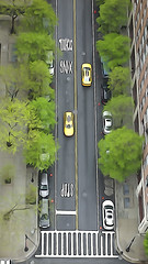 Battery Place (Jay Fine) Tags: street nyc trees cityscape manhattan taxis lookingdown batteryparkcity rx100