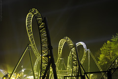 The Smiler (AndWhyNot) Tags: world park night track ride 14 towers first resort guinness record theme searchlight rollercoaster inversion alton reveal smiler