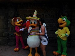 (MattCC716) Tags: epcot disney disneyworld donaldduck panchito elpato josecarioca lostrescaballeros thethreecaballeros uploaded:by=flickrmobile flickriosapp:filter=nofilter