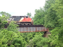 CN Crossing Trestle (dmott9) Tags: railroad trestle cn mississippi railfans