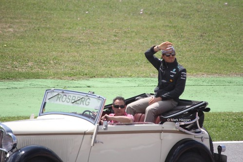 Nico Rosberg in the Drivers' Parade at the 2013 Spanish Grand Prix