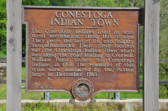 Conestoga Indian Town, Pennsyvania (tshiverd) Tags: sign may historicalmarker conestoga pennsyvania 2013 susquehannocks