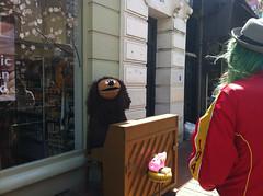 Rolf busking in Brighton