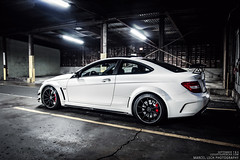 C63 AMG Black Series (Marcel Lech Photography) Tags: white canada black night vancouver photography mercedes benz marcel photoshoot flat interior rear front series carbon fiber rims matte amg spoiler lech c63