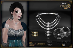 DANIELLE Taj Necklace And Earrings Diamond (Dani Plassitz) Tags: fashion modern silver gold necklace gothic ring diamond casual earrings filaments bangles elegance shininess jewelryset stylesbydanielle