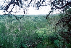(Abstractgraces) Tags: trees cliff nature beautiful 35mm texas dof minoltax700 hill adventure depth expanse x700 100iso lomography100iso