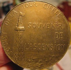 PARIS 1900 (backside) (streamer020nl) Tags: eiffeltower medal toureiffel 1900 penning brons sommet eifeltoren bronz eiffeltoren alexandrecharpentier up6718 souvenirdelascension