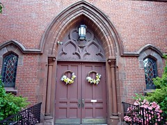 Church Doors (jannetie) Tags: park railroad trees sunset red brick green water train reflections garden newjersey twilight doors cross pennsylvania bricks gothic wroughtiron traintracks lawn bank trains stainedglass nuns monastery smokestack crucifix tugboat slate convent barge stmaryschurch redoak hilltop roadwork brickwork churchst mercercounty delawareriver flemishbond yachtclub railroadtracks barges methodistchurch paddlewheeler railroadtrestle assistedliving slateroof presbyterianchurch etchedglass crosswickscreek burlingtoncounty pennsylvaniarailroad trentonnj duckisland stmarysschool firehousegallery seniorliving bordentownnj poorclare lockkeepershouse englishbond poorclares burlingtonst delawareandraritancanal farmersandmechanics farnsworthave firstlock yapewiaquaticclub farnsworthavenue appshardware boatclubhouses juanitacrosby crosswicksstreet