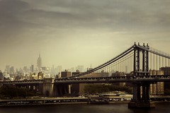 Manhattan Bridge in NYC (Magda Bognar) Tags: city nyc newyorkcity urban newyork skyline architecture cityscape manhattan manhattanbridge empirestatebuilding
