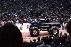 IMG_0063 (Nighthauler Photography) Tags: tractor cars truck pull meadowlands arena crushing bigfoot sled weight