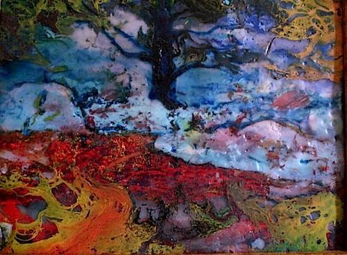 Enaustic Landscape