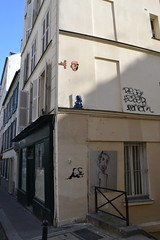 Or feat Mister P (Ausmoz) Tags: street urban streetart paris art wall installation mister decal walls serpent rue mur 75018 snakes decals murs plumes serpents installations urbain misterp or