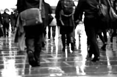 Commuting in the Rain (Part of a Series) (A-Lister Photography) Tags: city uk light motion london feet wet rain weather horizontal walking landscape movement workers suits legs employment pavement citylife ground business sidewalk motionblur walker rush pedestrians commuting groundlevel rushhour raining walkers greysky commuters reallife cityoflondon finance pave businessmen businesspeople lowlevel heavyrain officeworkers worklife realpeople wetreflections adamlister nikond5100 alisterphotography