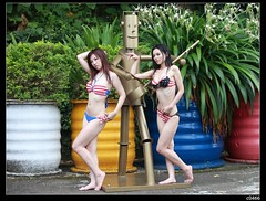 nEO_IMG__MG_1973 (c0466art) Tags: light two portrait girl female canon pose nice asia outdoor gorgeous taiwan suit together bikini attractive match 5d lovely charming activity c0466art