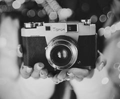 Taron Film Camera (Amanda Mabel) Tags: camera blackandwhite stilllife macro film japan closeup vintage focus bokeh antique collectible hakodate bnw ilovephotography thriftshop taron amandamabel