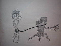 Stay (olrichem) Tags: boy man tree art ink drawing marker sharpie