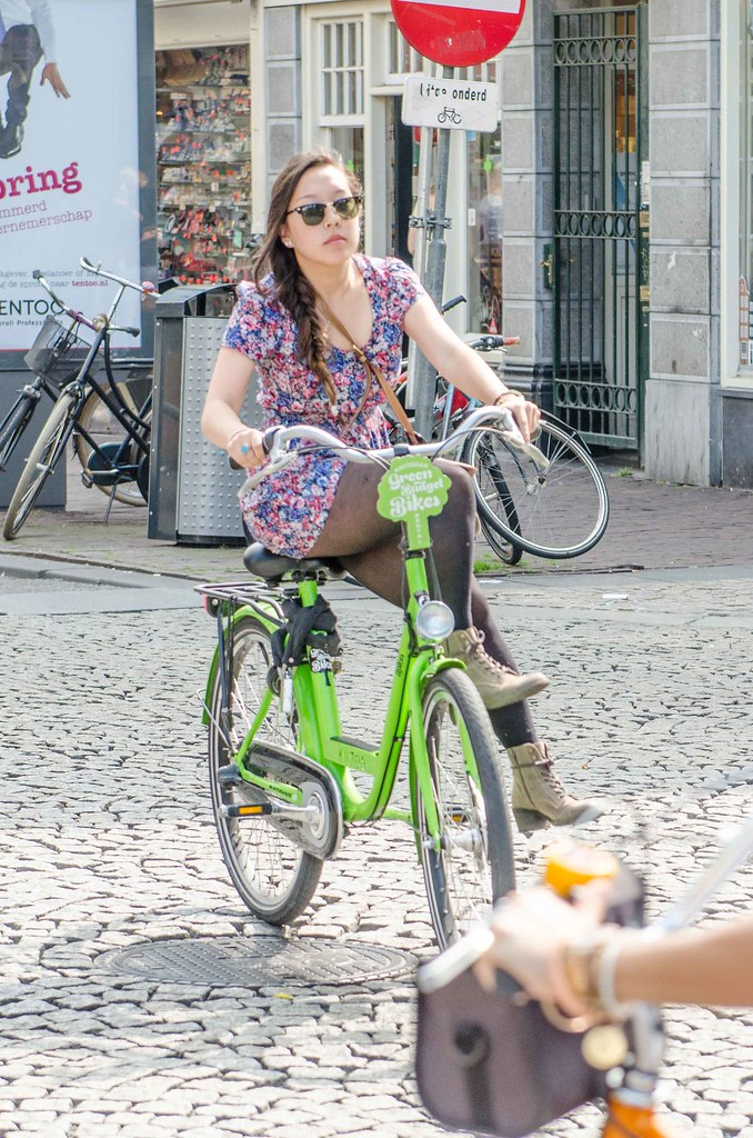 Upskirt bicycle