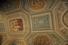 Perfectly Painted Ceiling (Crumblin Down) Tags: city blue italy vatican rome roma church saint silhouette st museum last painting table walks paint italia catholic tour cathedral chairs swiss basilica guard murals statues chapel christian peter changing seats obelisk marble michelangelo peters judgement pieta sistine walksofitaly