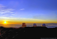 Sunset at the Mauna Kea Summit 13,792 Ft ASL (4205 meters) (lhg_11, 2million views. Thank you!) Tags: sunset vacation sky mountain clouds island volcano hawaii summit bigisland 500views domes maunakea observatories hawaiianislands dormantvolcano 100comments