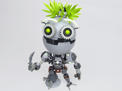 Borris the Pirate Jigbot (Brickthing) Tags: danger robot lego pirates magnets system adventure rum mecha emote moc batbot jigbot