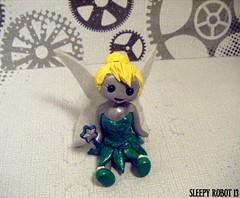 Tinkerbell Robot (Sleepy Robot 13) Tags: cute robot diy handmade robots polymerclay fimo comicbook kawaii sculpey etsy urbanvinyl marvel sculpting smallbusiness sleepyrobot13 polymerclayurbanvinylsleepyrobot13etsysilvercraftcraftscraftingsculptingsculpturefigurinearthandmadecraftshowcutekawaiirobots