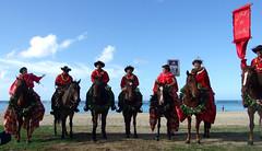 Pa'u Princess and Riders - Big Island (colleeninhawaii) Tags: flowers red horse hawaii waikiki oahu parade lei pau
