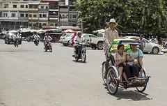 Cycle Taxi, Phnom Pehn, Cambodia, 2013 (Dan Bernard 131 Design) Tags: photography asia cambodia markets streetphotography mekong phnompehn cambodianlifestyle danbernard 131design