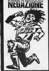 Negazione sticker, which I made (also drew myself) in late 1985