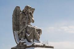 Burlington trip, January 2014 (damonbla) Tags: winter green cemetery statue vermont mount montpelier