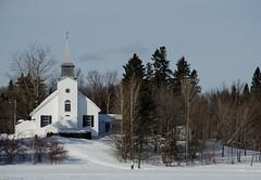 chapelle Ste-Marie-des Lacs (jora63) Tags: winter white snow hiver c