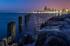 Fullerton Sunrise (rseidel3) Tags: morning lake chicago water skyline sunrise nikon d5200