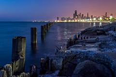 Fullerton Sunrise (rseidel3) Tags: morning lake chicago water skyline sunrise nikon d5200