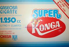 """Konga. """"Gaseosa gigante"""". Años 80"""