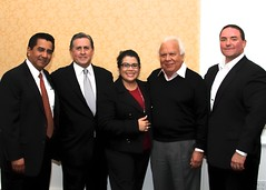 Chairs of the Orange County Hispanic Chamber of Commerce Henry Mendoza, Reuben Franco, Patty Juarez, Raul Medrano and Eddie Marquez