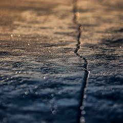 Crack Into the Sunrise (Call_Me_Josh) Tags: winter snow ice sunrise crack portfolio lakesuperior tettegouchestatepark mnstateparks