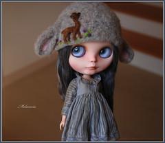 Thank you <3 (Melacacia ) Tags: love alpaca girl hat march doll you sweet gray thank lamb blythe custom bye 142 cinder 2014 reroot melacacia piparrot tutubella