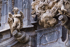 1675 Catedral de Murcia, detalle de la fachada (Ricard Gabarrús) Tags: arquitectura monumento edificio catedral iglesia murcia estatuas iglesias estatua monasterio ermita ricgaba ricardgabarrus